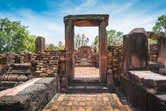 Forntida stenslott, Thailand Arkivbild