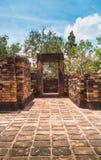 Forntida stenslott, Thailand Arkivfoto