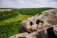 Forntida stenstad i bergen royaltyfri bild