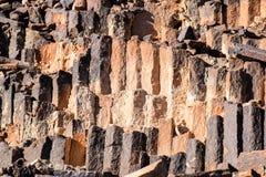 forntida stentexturvägg Arkivbild