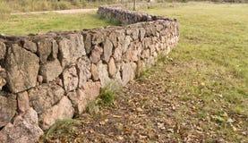 forntida stenvägg Arkivfoton