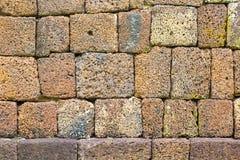 Forntida stenvägg beautifully Arkivfoto
