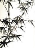 Forntida stil Art Print för bambu Royaltyfria Bilder