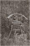 Forntida stol för barn arkivbilder