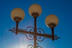 Forntida streetlightkonstfoto royaltyfria bilder