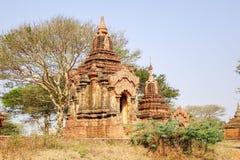 Forntida Stupa i Bagan, Myanmar Arkivbild