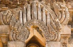 Forntida stupa i Wat Chedi Chet Thaew, si Satchanalai, Thailand Royaltyfri Bild