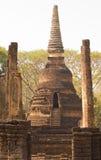 Forntida stupa i Wat Nang Praya, si Satchanalai, Thailand Royaltyfria Bilder