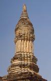 Forntida stupa på Wat Chedi Chet Thaew, si Satchanalai, Thailand Arkivbilder