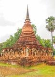 Forntida Stupa Sukhothai Thailand Royaltyfri Bild
