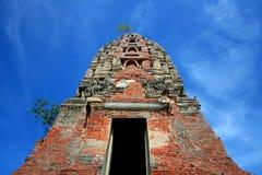 Forntida Stupa Wat Mahathat Thailand Arkivbild