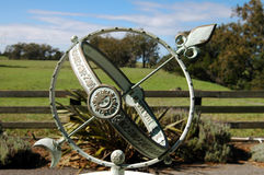 forntida sundial royaltyfri fotografi
