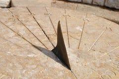 forntida sundial Arkivfoton