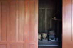 Forntida sydostligt asiatiskt kök/traditionellt thailändskt kök arkivfoto