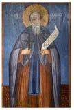 Forntida symbol från kloster av Panayiaen Kera.Island av Kreta Arkivfoto
