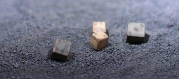 forntida tärninglek arkivbild