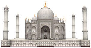 Forntida Taj Mahal Illustration Isolated Arkivbilder