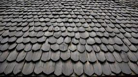 Forntida taktextur för tegelplatta Arkivbilder