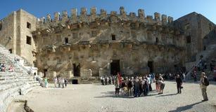 forntida teater av Aspendos Royaltyfri Foto