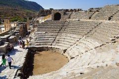 Forntida teater av Ephesus, Turkiet Arkivbild
