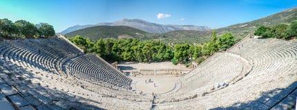 Forntida teater av Epidaurus, Grekland Royaltyfri Foto