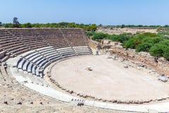 Forntida teater av salamier nära Famagusta Fotografering för Bildbyråer