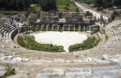 Forntida teater i Ephesus Royaltyfri Fotografi