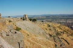 Forntida teater i Pergamon, Turkiet Royaltyfri Bild
