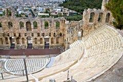 Forntida teater på acropolisen av Athens Royaltyfria Foton