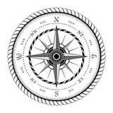 Forntida tecken av vind Rose Engraving Stylized royaltyfri illustrationer
