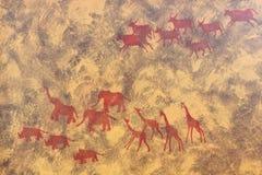 forntida teckning Arkivbild