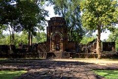 Forntida tegelsten i den historiska Muang allsången Fotografering för Bildbyråer