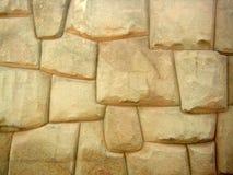 forntida tegelstenperu vägg Arkivbild