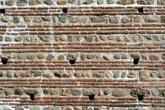 forntida tegelstenvägg Royaltyfria Bilder
