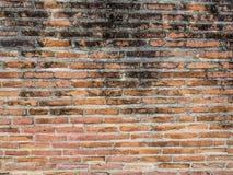 forntida tegelstenvägg Royaltyfri Foto