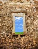 forntida tegelstenvägg royaltyfri bild