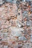 forntida tegelstenvägg Fotografering för Bildbyråer