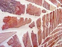 Forntida tegelstenvägg av den gamla byggnaden, tegelstenbakgrund royaltyfria foton