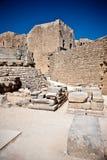 Forntida tempel av Apollo på Lindos Royaltyfri Foto