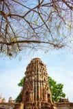 Forntida tempel av Thailand, Watmahathat, Ayutthaya Arkivfoto