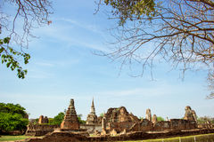 Forntida tempel av Thailand, Watmahathat, Ayutthaya Arkivbild
