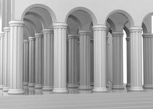 Forntida tempel - 3D vektor illustrationer