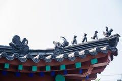 Forntida tempel för Kina ` s Royaltyfri Bild
