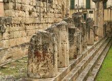 forntida tempel för apollo grek s syracuse Royaltyfri Foto