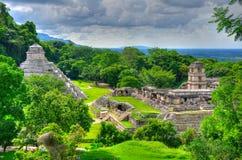 forntida tempel för mayamexico palenque Royaltyfri Foto
