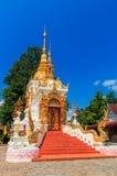 Forntida tempel i det Chiang Mai landskapet, Thailand Arkivbild