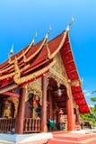Forntida tempel i det Chiang Mai landskapet, Thailand Arkivfoto