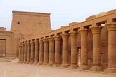 Forntida tempel i Egypten royaltyfri fotografi