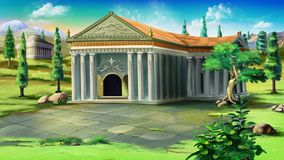 Forntida tempel i Grekland Royaltyfria Foton