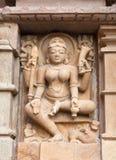Forntida tempel i Khajuraho, Indien Arkivbild